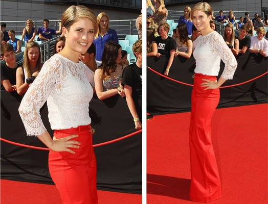Pictures of Missy Higgins Wearing Lover Lace Top and Red Trousers at the 2011 ARIA Awards: Rate or Hate?