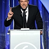 Ben Affleck was animated in his speech at the Producers Guild Awards.