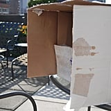 Take a medium-sized cardboard box and cut the flaps off of the top - this will now become the bottom of your fire truck.