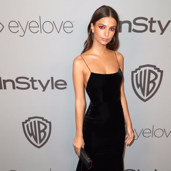 Emily Ratajkowski's Golden Globes Afterparty Dress 2018