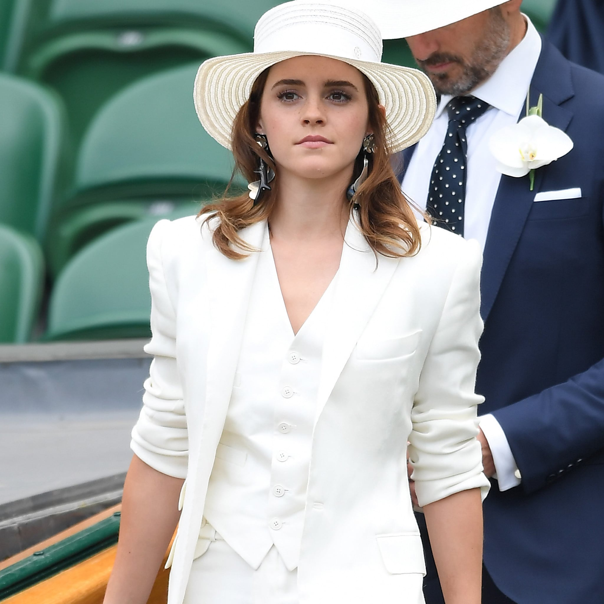 emma watson ralph lauren wimbledon outfit 2018 | popsugar fashion