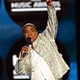 Host Tracy Morgan kept the crowd entertained.