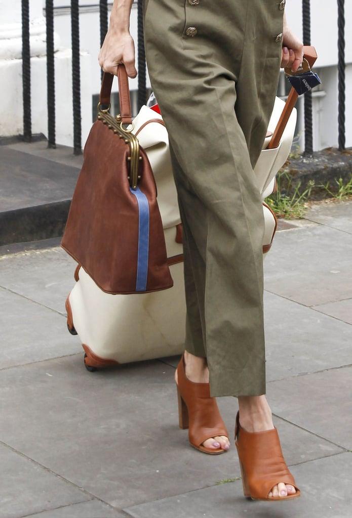 Amal Clooney Wearing Green Jumpsuit in London