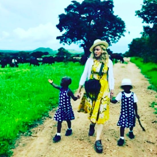 Madonna Instagram Photo With Twin Daughters February 2017