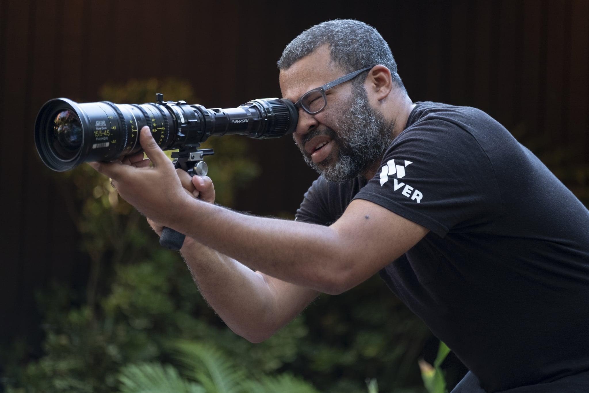 Writer-producer-director Jordan Peele on the set of his film,
