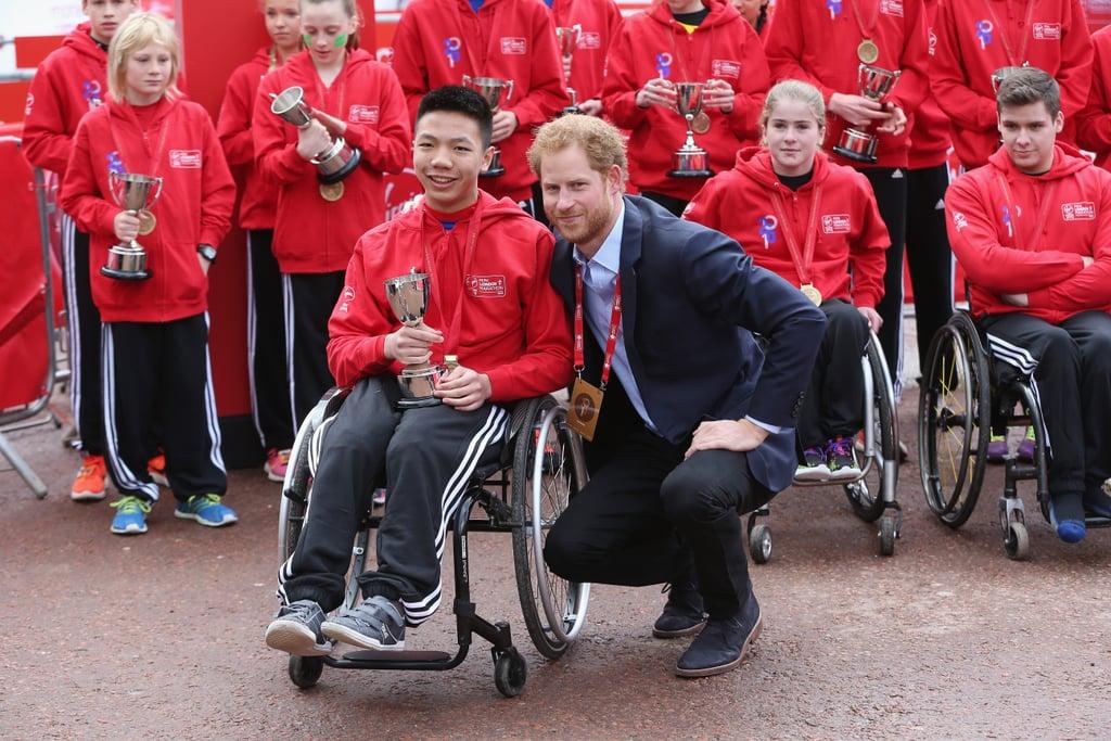 Prince Harry at London Marathon 2016 Pictures