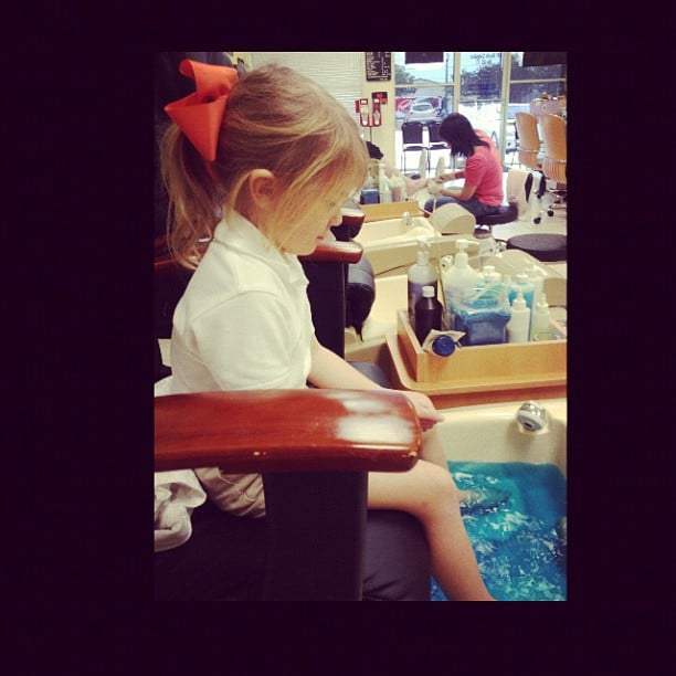 Jamie Lynn Spears took her daughter, Maddie, for pedicures. Source: Instagram user jl777