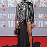 Eva Apio at the 2020 BRIT Awards in London