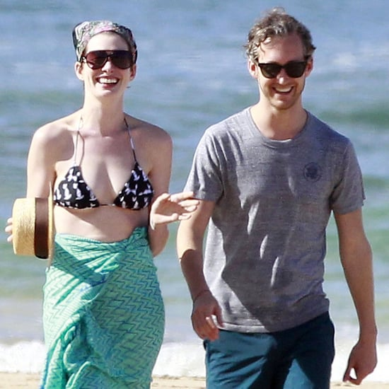 Anne Hathaway in a Bikini in Hawaii With Her Husband
