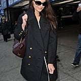 Katie Holmes walked near Times Square.