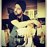 Justin Timberlake donned an apron for a baking session.