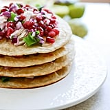 Honey Ginger Chicken Tostadas With Pomegranate Lime Salsa