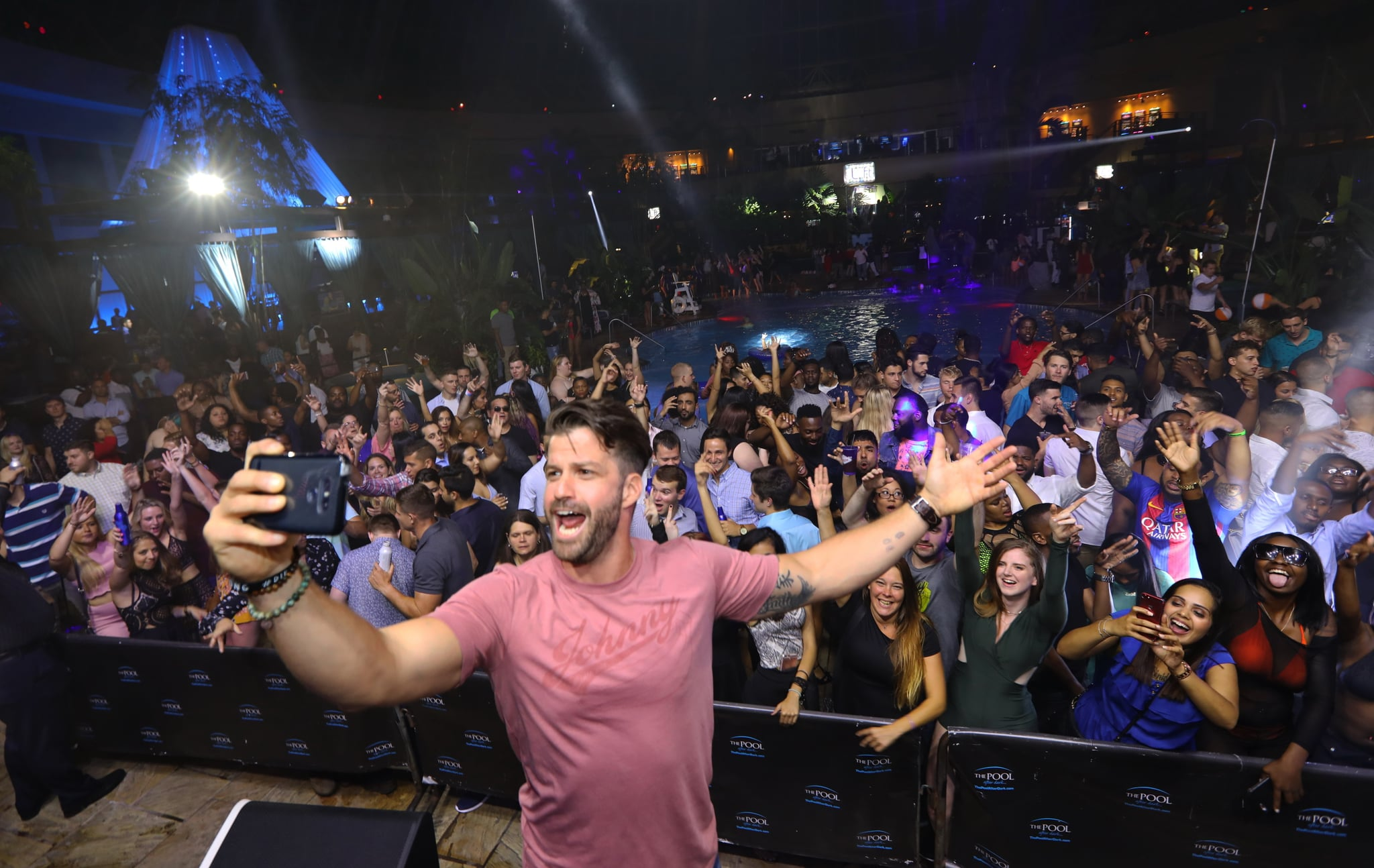 ATLANTIC CITY, NJ –June 30:  Johnny Bananas hosts The Pool After Dark at Harrah's Resort on Friday June 30, 2017 in Atlantic City, New Jersey (Photo by Tom Briglia/ WireImage)