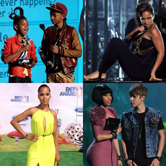 Alicia Keys, Justin Bieber, Willow and Jaden Smith at BET Awards
