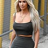 Kim Kardashian's Platinum Hair in 2017