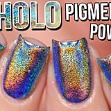 Holo Mirror Chrome Pigment Powder Nails OMG! Gel vs Polish - How to Holo #2