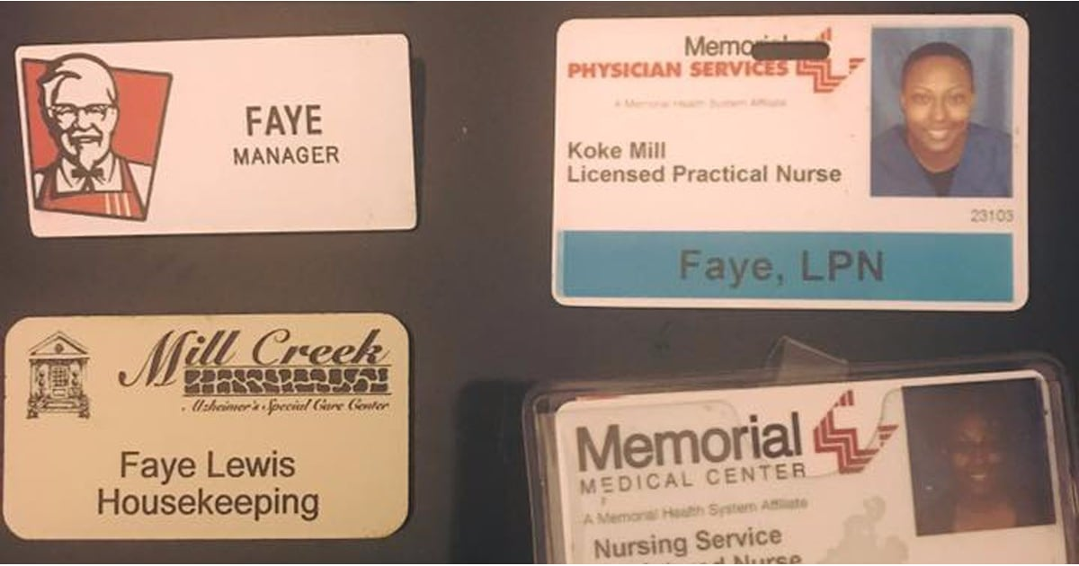 Nurse's Viral Picture of Her Employee Badges | POPSUGAR Smart Living