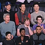 Harrison Ford and Calista Flockhart Enjoy a Family Day at the LA Lakers Game