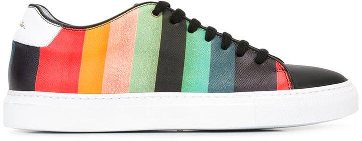 ad38a2cf9cc Paul Smith Rainbow Stripe Sneakers