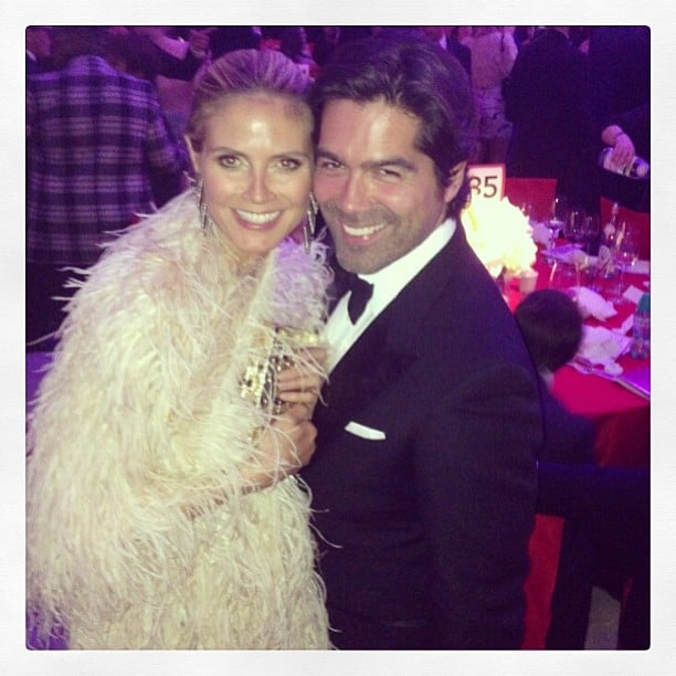 Heidi Klum cozied up to Brian Atwood at Elton John's Oscars viewing party. Source: Instagram user brian_atwood