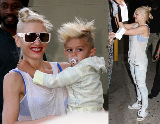 Photos of Gwen Stefani with Her Sons and No Doubt at the Jimmy Kimmel Show