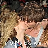 Dianna Agron and her rumored boyfriend, Thomas Cocquerel, kissed.