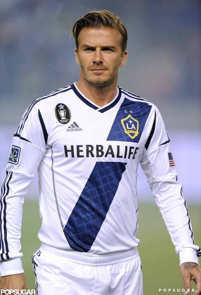 David Beckham took the field in LA.