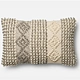 Magnolia Home Grey/Ivory Diamond Stripes Pillow