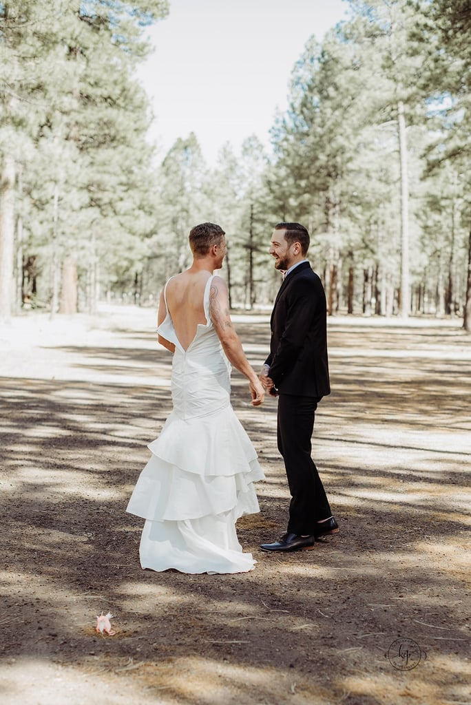 Bride sends brother to her first look in a wedding dress for Wedding photographer for 2 hours