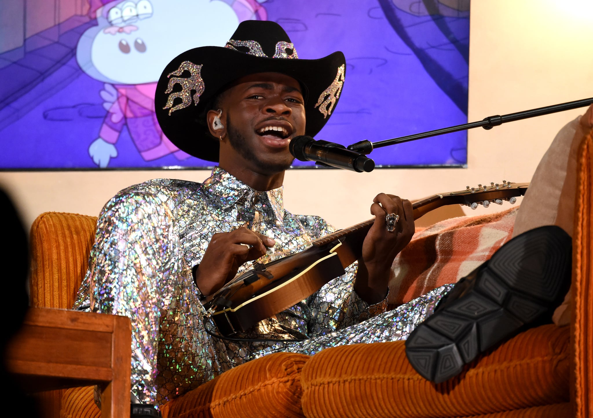 LOS ANGELES, CALIFORNIA - JANUARY 26: Lil Nas X performs at the 62nd Annual GRAMMY Awards on January 26, 2020 in Los Angeles, California. (Photo by John Shearer/Getty Images for The Recording Academy)