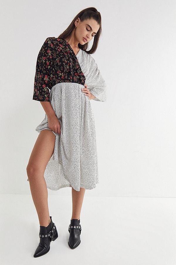 Ghospell Beyond the Dot Midi Wrap Dress