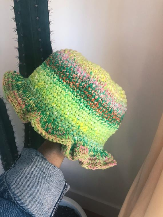 """Hooked By Haley Lu's """"Crazy"""" Bucket Hat — Bright Green"""