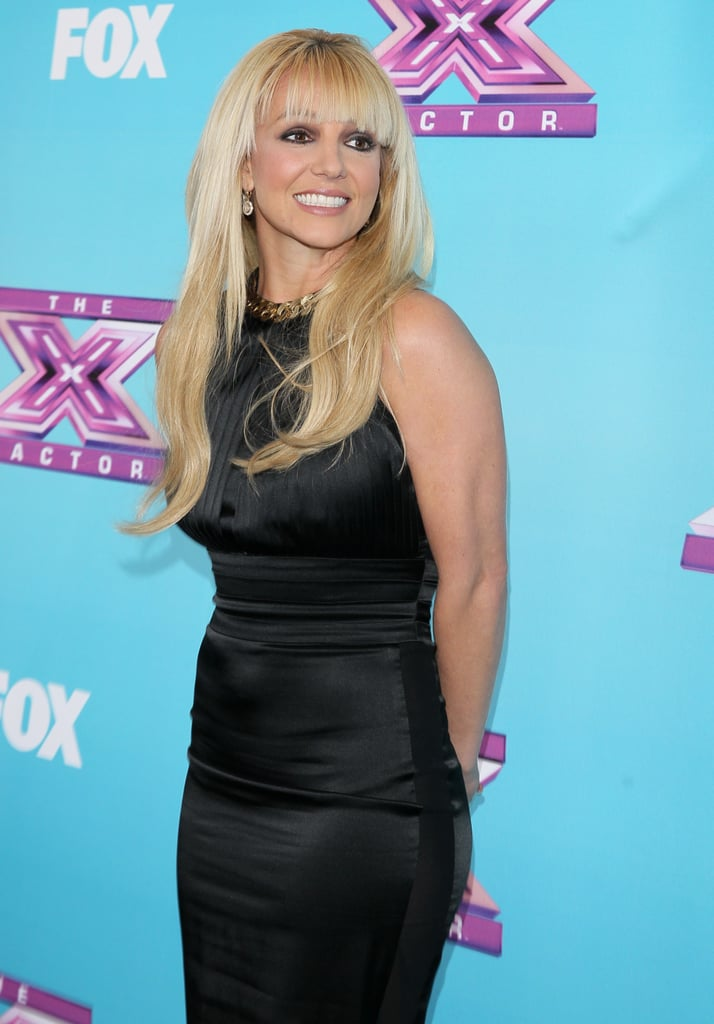 Britney Spears posed on the red carpet.