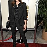 Cindy Crawford arrived at the premiere of The Descendants.