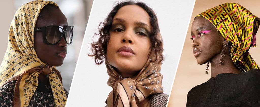 Babushka Scarves Are 2021's Most Surprising Fashion Trend