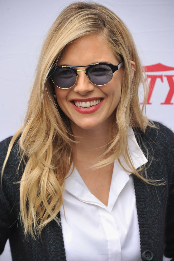 Sienna Miller smiled at the Hamptons International Film Festival in East Hampton.