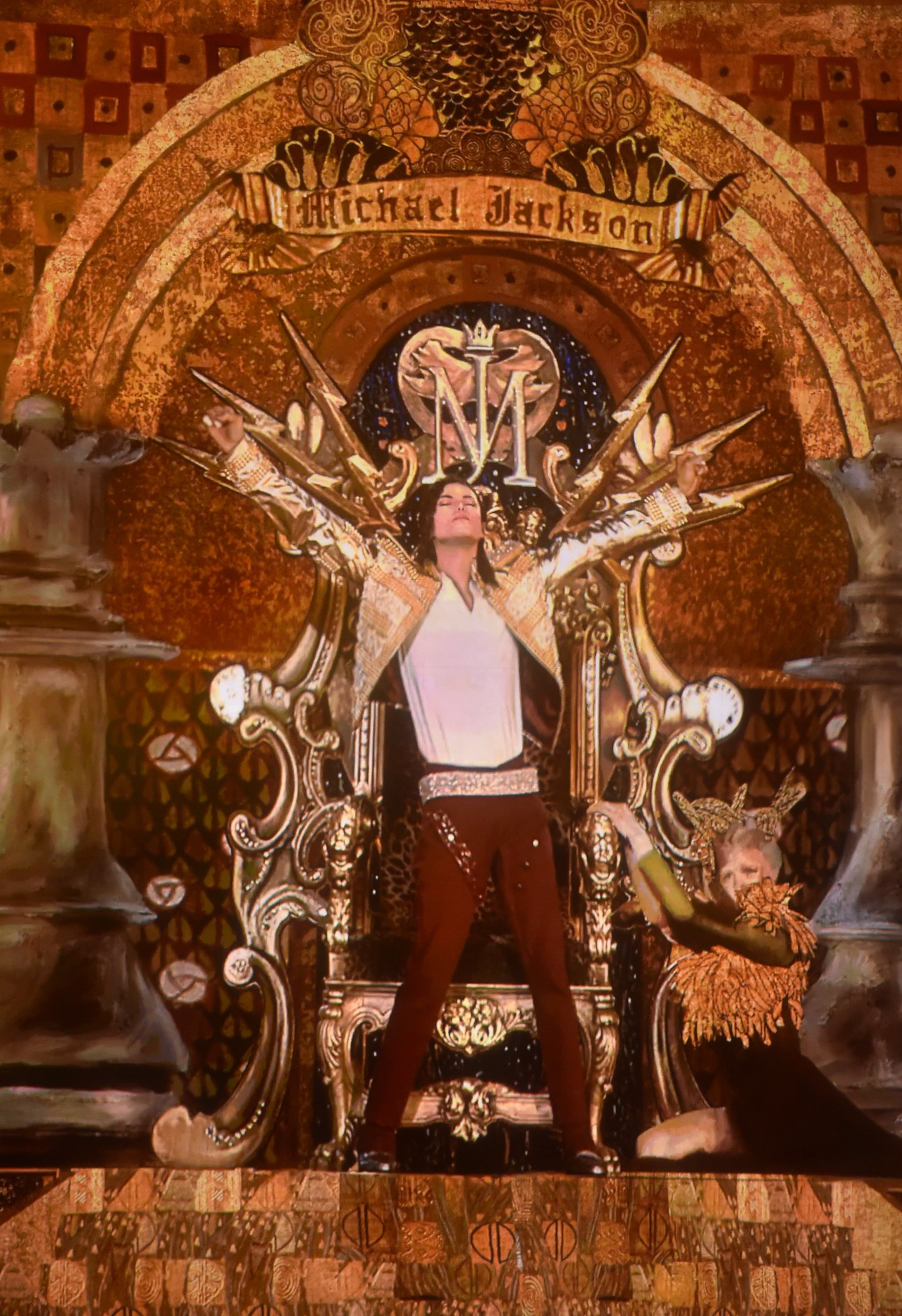 """A hologram of Michael Jackson took center stage to debut the song """"Slave to the Rhythm"""" and honor the late King of Pop at the Billboard Music Awards in Las Vegas."""