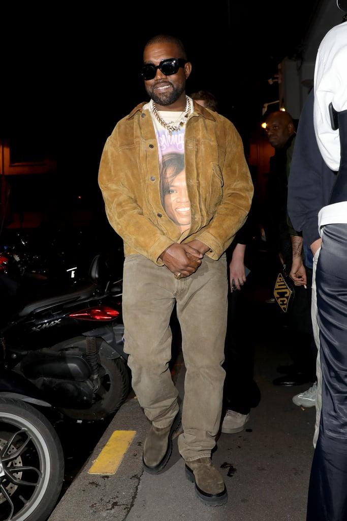 Kanye West at Paris Fashion Week 2020