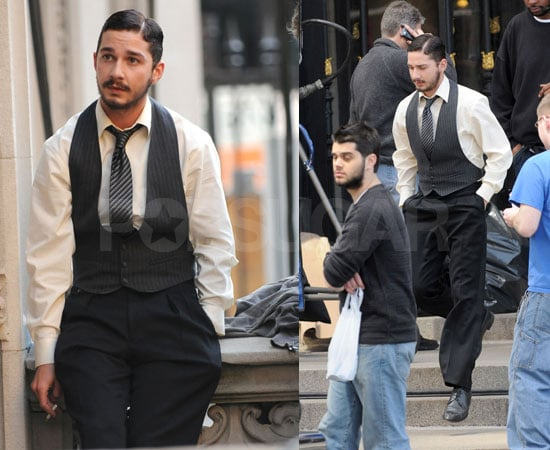 Shia LaBeouf on the Set of New York, I Love You