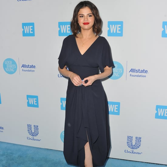 Selena Gomez Brown Heels at We Day 2018