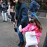 Katie Holmes celebrated her 34th birthday with Suri Cruise at Sugar and Plumm in NYC.
