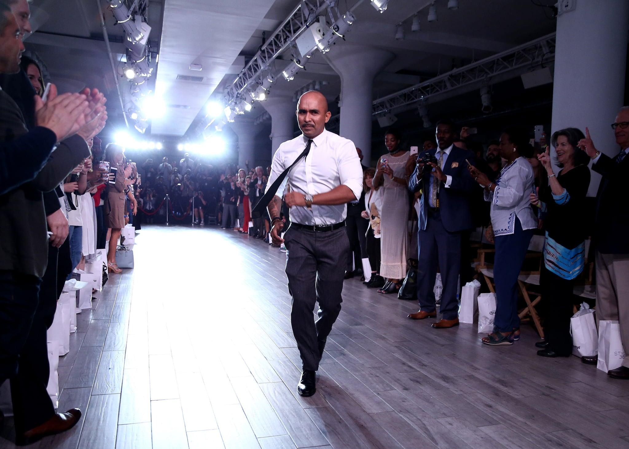 NEW YORK, NY - SEPTEMBER 13:  Raul Penaranda walks the runway at Kia STYLE360 Hosts Raul Penaranda Spring 2017 Momentum Fashion Show on September 13, 2016 in New York City.  (Photo by Thomas Concordia/WireImage Style360)