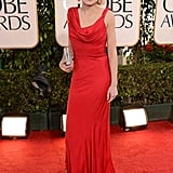 The Newsroom's Alison Pill was red hot in this slinky gown.