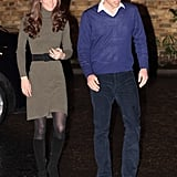 Kate stepped out earlier this week in a Ralph Lauren sweater dress.
