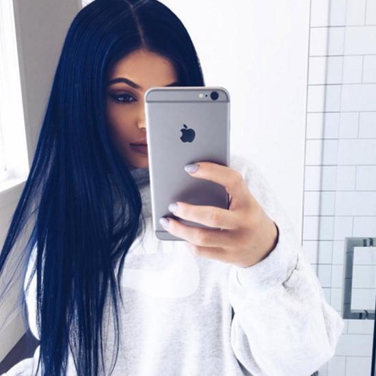 Kylie Jenner's Navy Blue Hair | Spring 2016