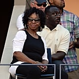 Gladys Knight took in the scene.