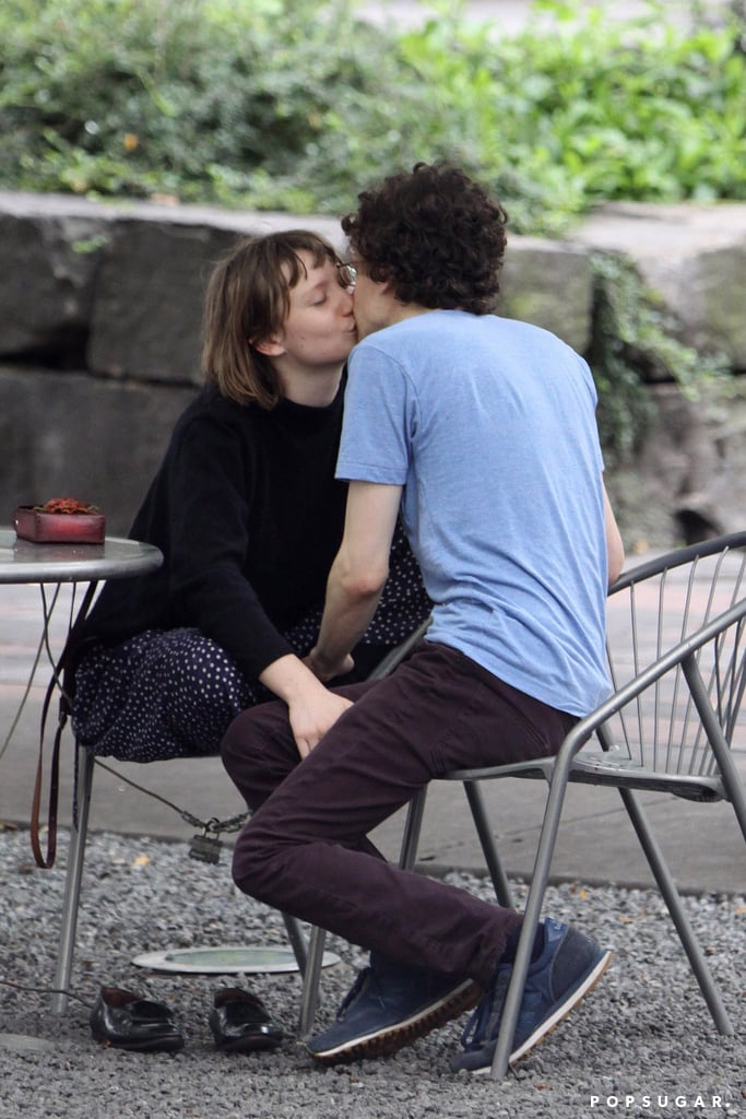 Jesse Eisenberg and Mia Wasikowska kissed in Toronto.