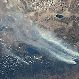 NASA astronaut Karen L. Nyberg tweeted a picture of the fire as seen from the International Space Station.