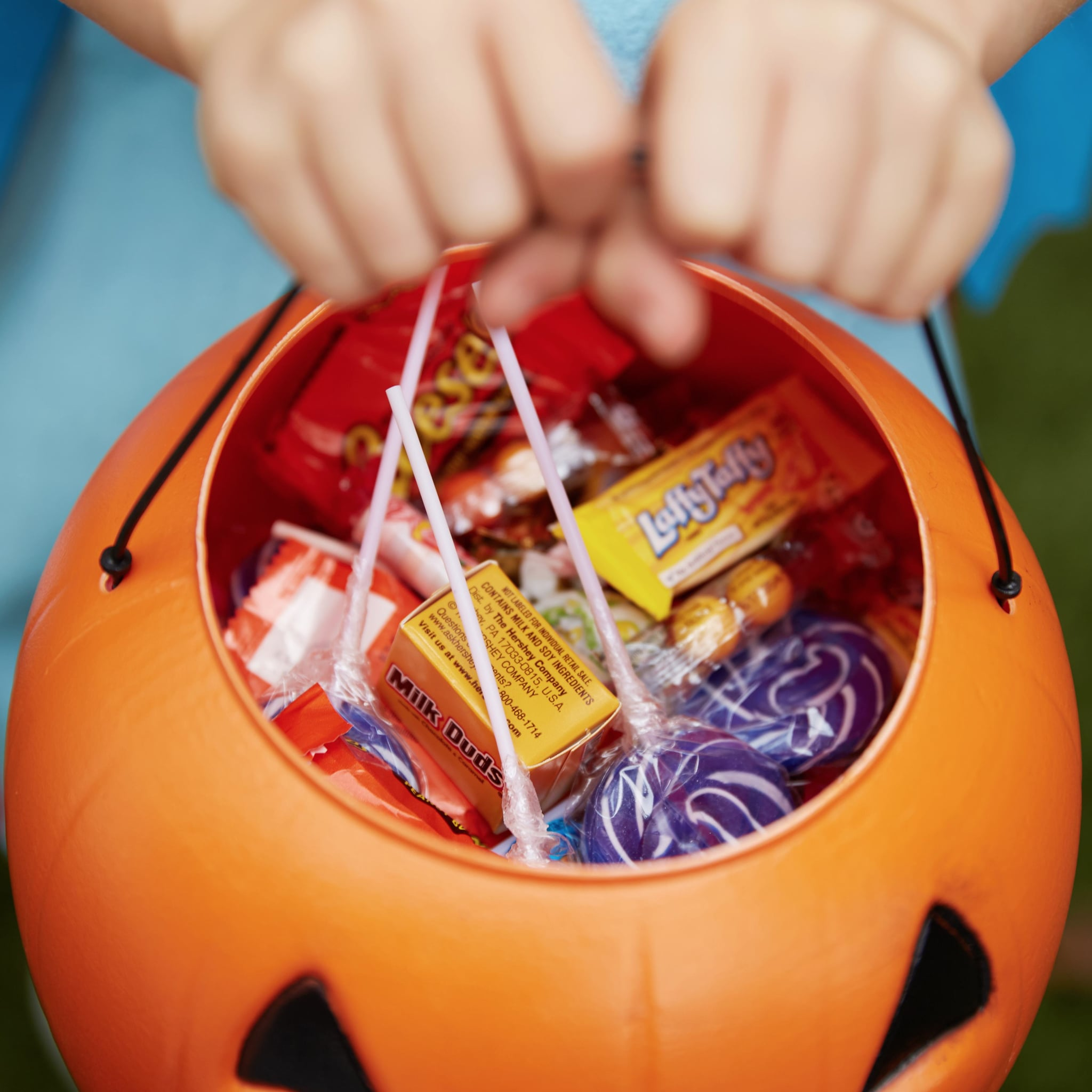checking halloween candy for tampering | popsugar family