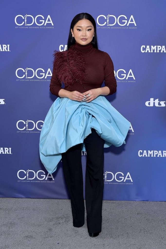 Lana Condor in Prabal Gurung at the 2021 Costume Designers Guild Awards